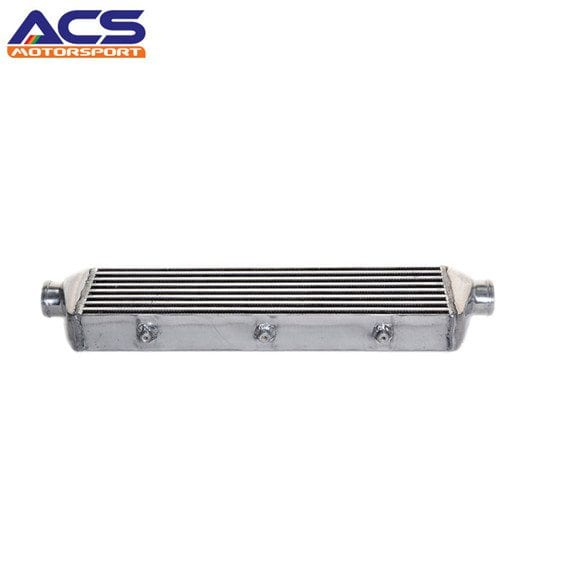 Air to air intercooler core size 550x140x65mm 2.25″ Inlet & Outlet