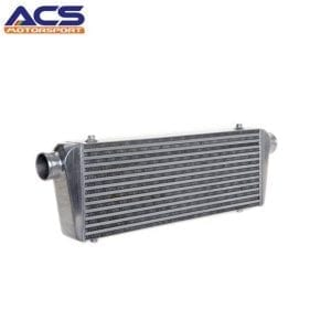 Air to air intercooler core size 600x230x76mm 2.5″ Inlet & Outlet