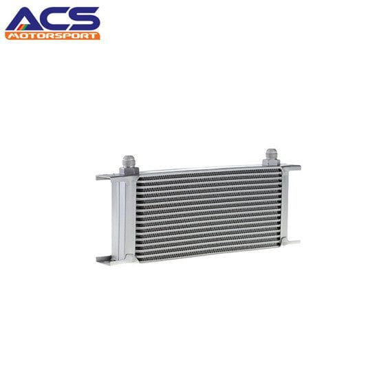 16 ROW Universal Aluminum Engine Transmission Oil Cooler Silver