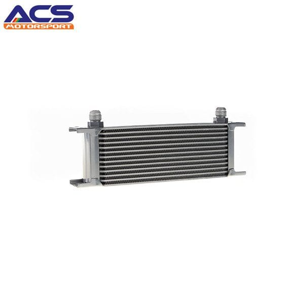 13 ROW Universal Aluminum Engine Transmission Oil Cooler Silver