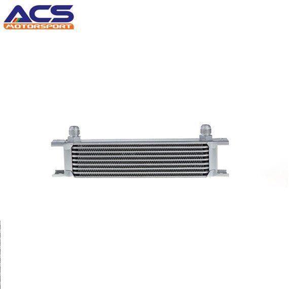 Universal Engine transmission Oil Cooler 9 row 8AN Fitting silver 7/8″-14UNF