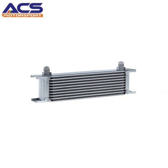10 ROW Universal Aluminum Engine Transmission Oil Cooler Silver
