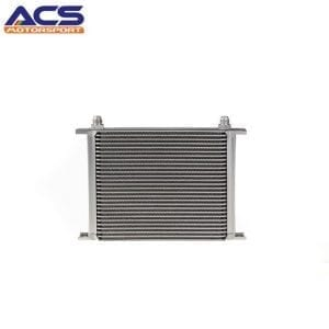 28 ROW Universal Aluminum Engine Transmission Oil Cooler Silver