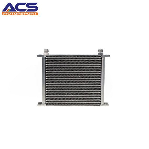 30 ROW Universal Aluminum Engine Transmission Oil Cooler Silver