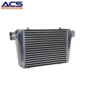 Air to air intercooler size 400x300x76mm 2.5″ Inlet & Outlet